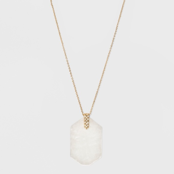 BaubleBar Jewelry - Sugarfix Graphic Resin Pendant Necklace NWT